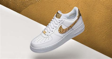 Nike Air Force 1 CR7 Golden Patchwork Sneakers - SoccerBible