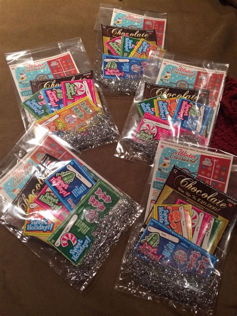 Lotto Ticket Christmas Gift Bags made by yours truly