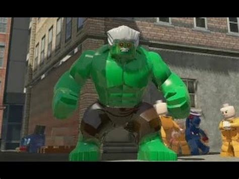 LEGO Marvel Super Heroes - All Big-fig Special Moves (PS4
