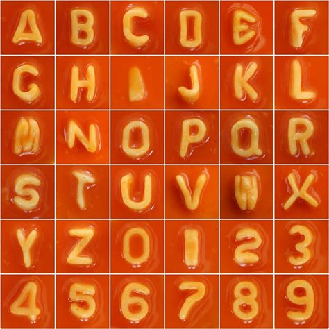 Spaghetti Letters & Numbers | Heinz Alphabetti and
