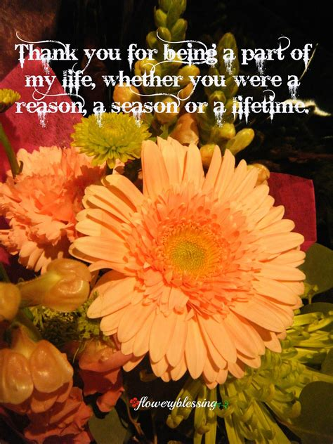 Flowery Blessing: Thank you for being a part of my life