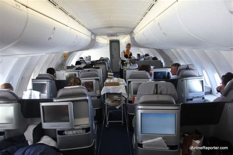 Flying Business Class on the Upper Deck of a Lufthansa