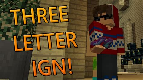 2018 HOW TO GET a 3 Letter Minecraft In-Game Name! - YouTube