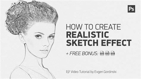 Realistic Sketch Effect + FREE Action & Psd - Photoshop