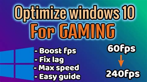 How to Optimize Windows 10 For GAMING & Performance in