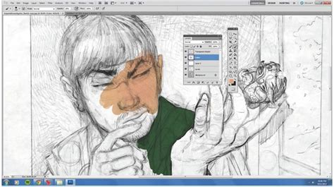 Create a transparent version of a drawing in Photoshop