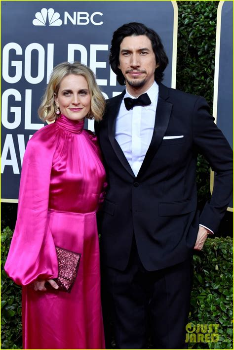 Adam Driver Suits Up for Golden Globes 2020 With Wife